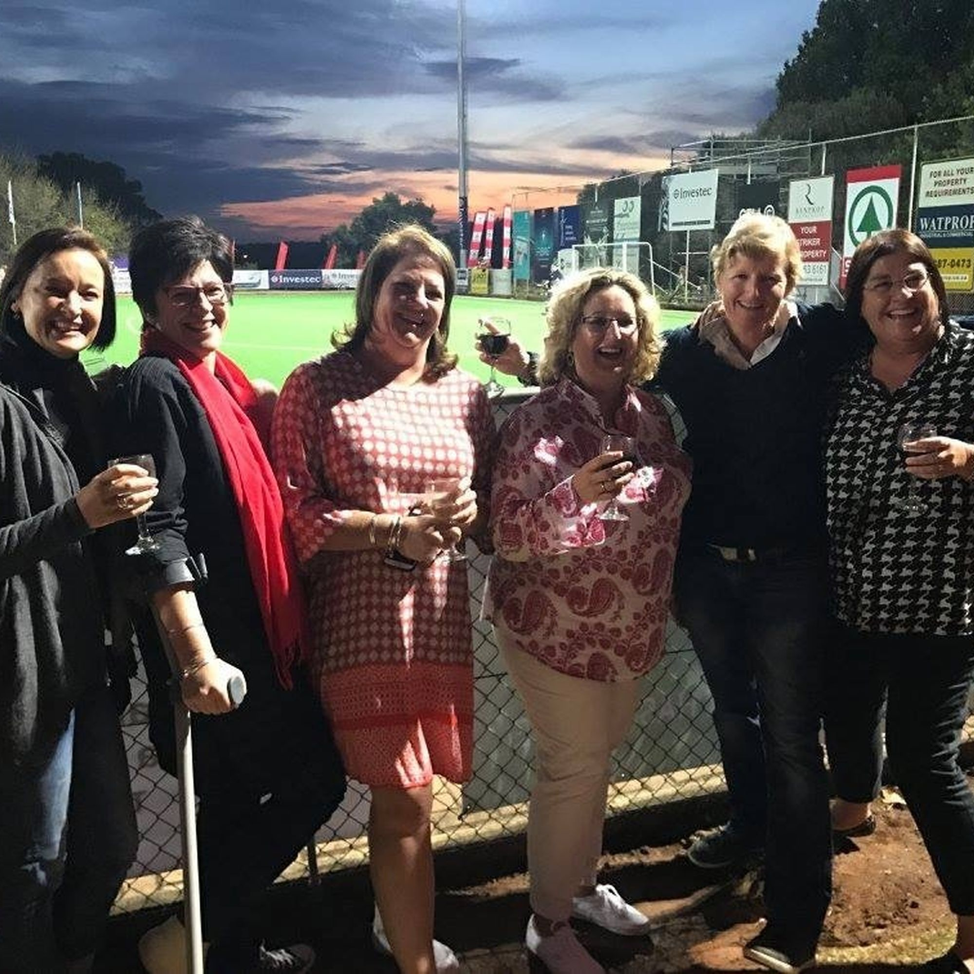 Annually the old girls get together to support the st marys hockey team at the st marys investec hockey festival
