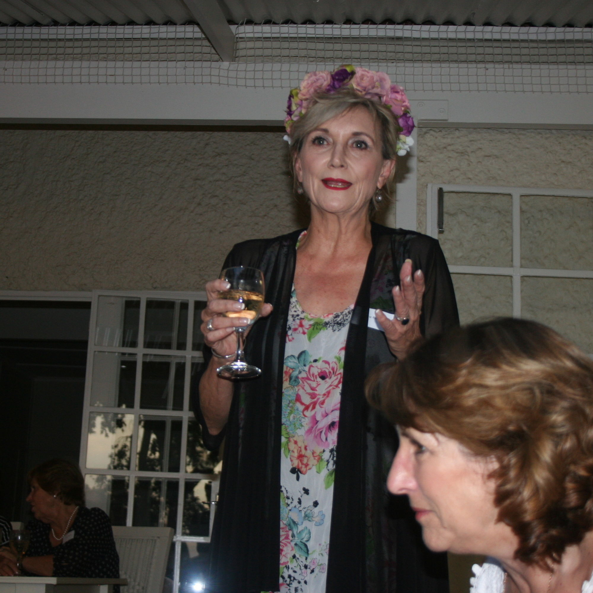Old girl fiona ramsay addressing fellow alumni at an old girls networking evening