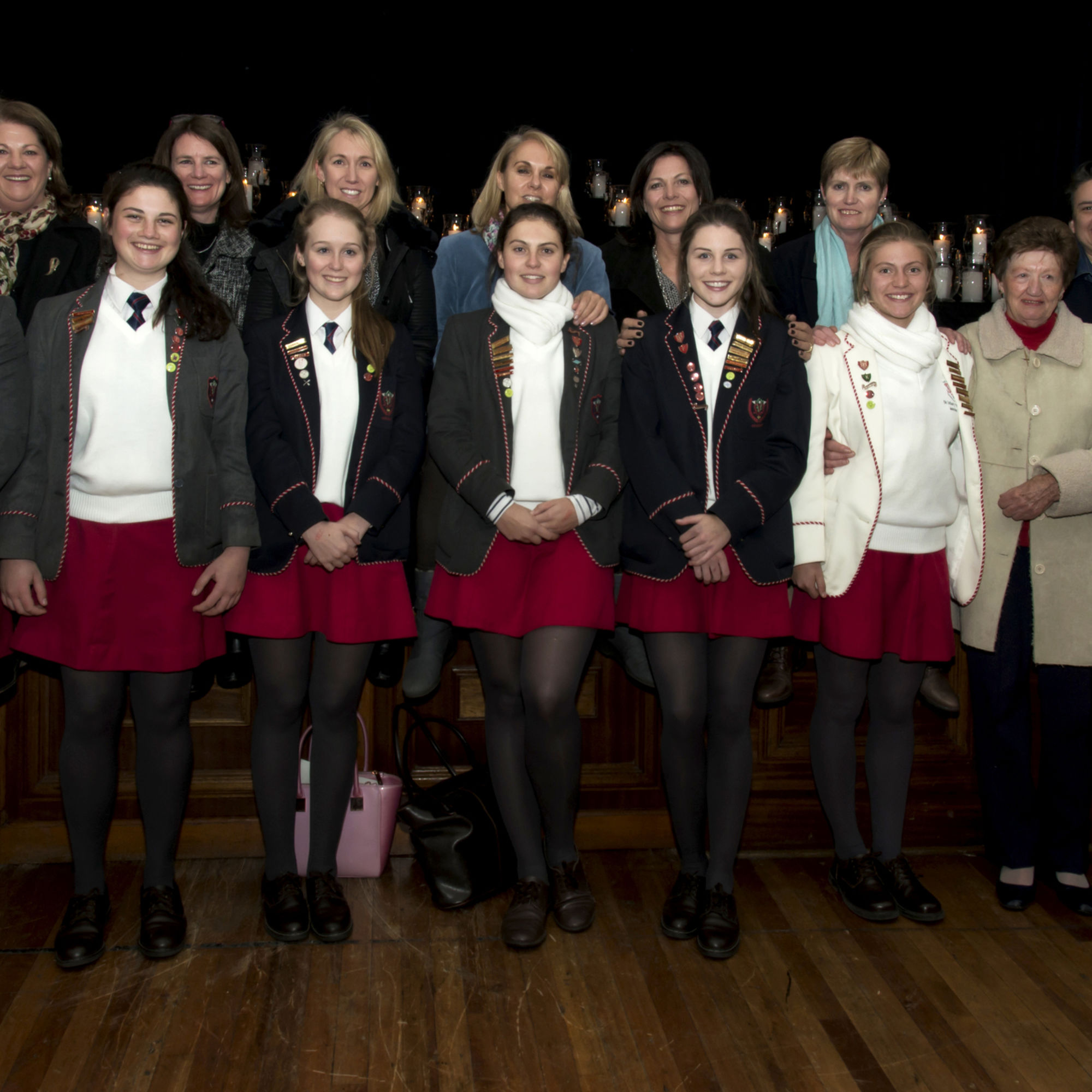 Old girls with their matriculating daughters who attend st marys