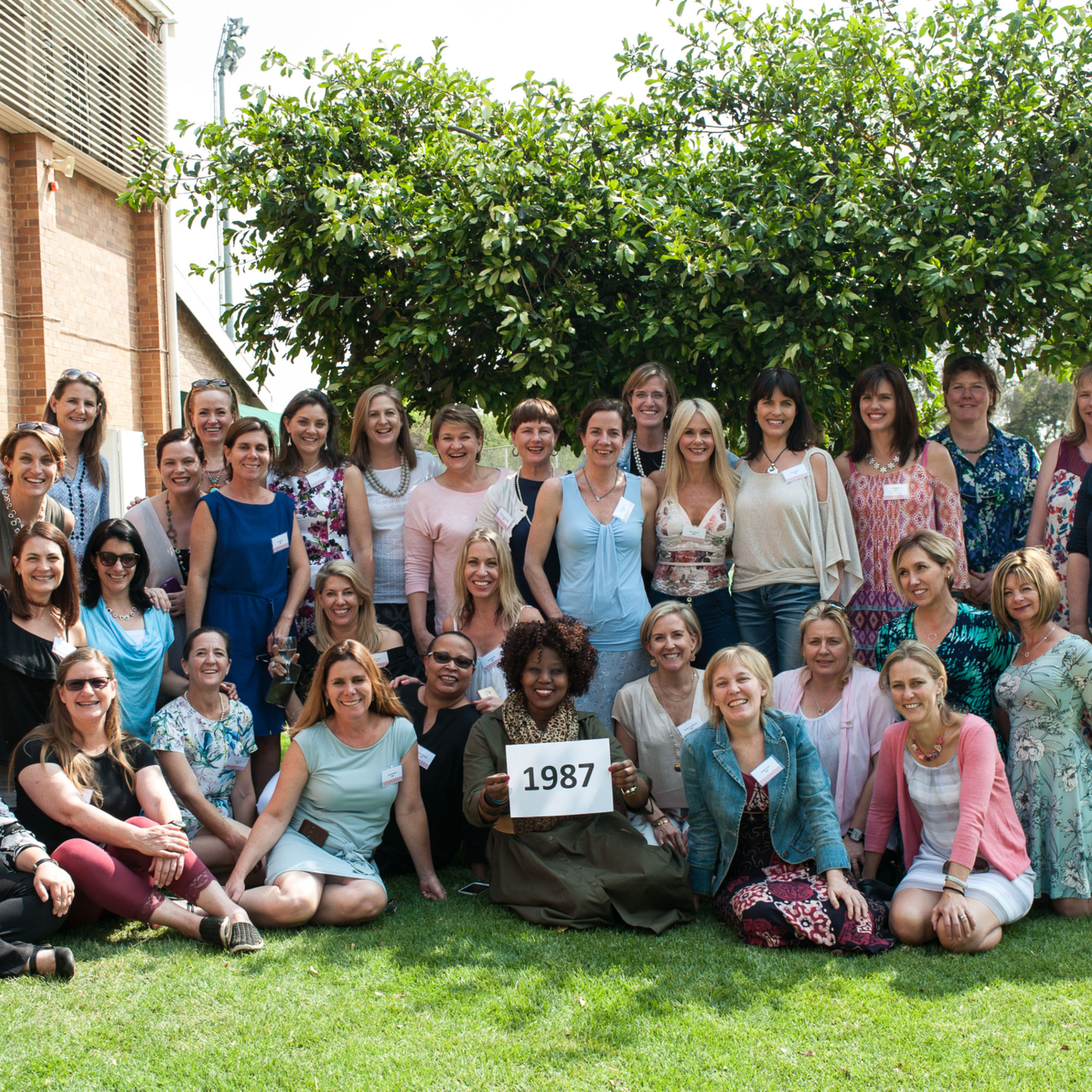 The class of 1987 celebrating 30 years since matriculating at old girls day