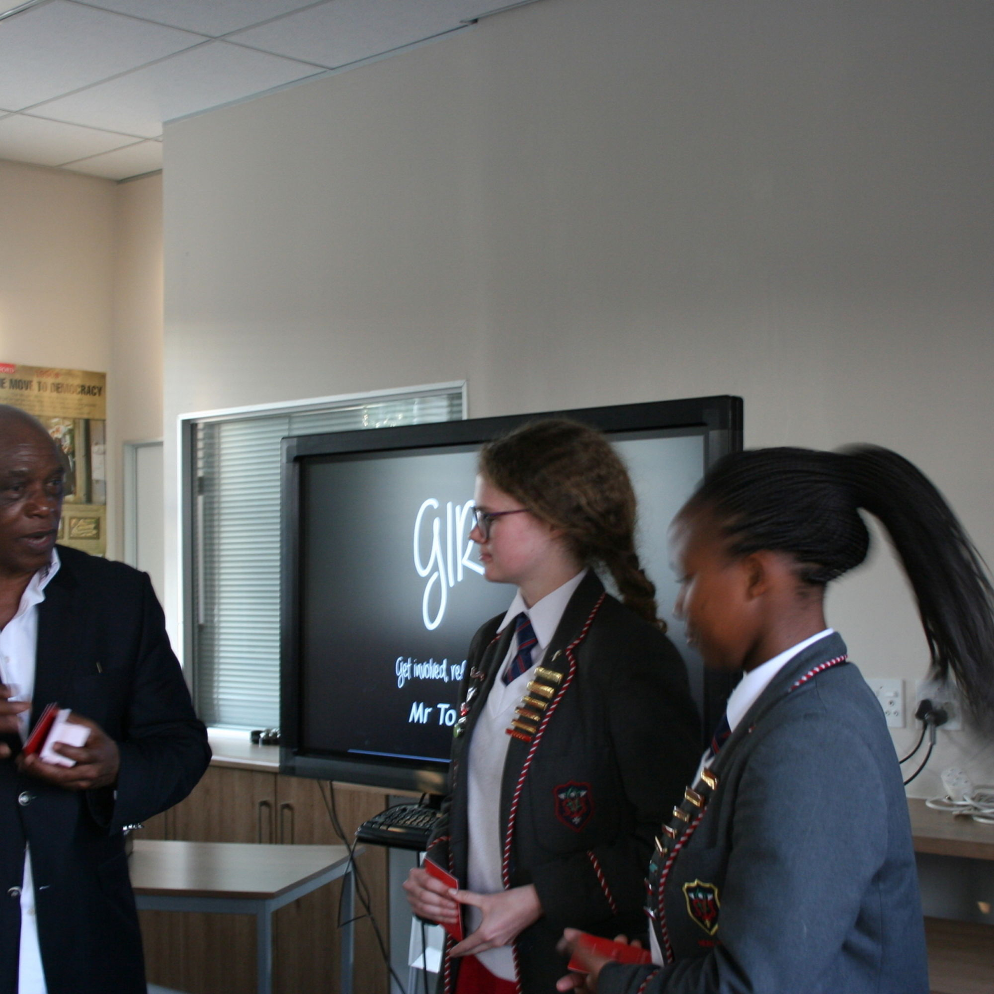 Tokyo sexwale addressing the girls committee