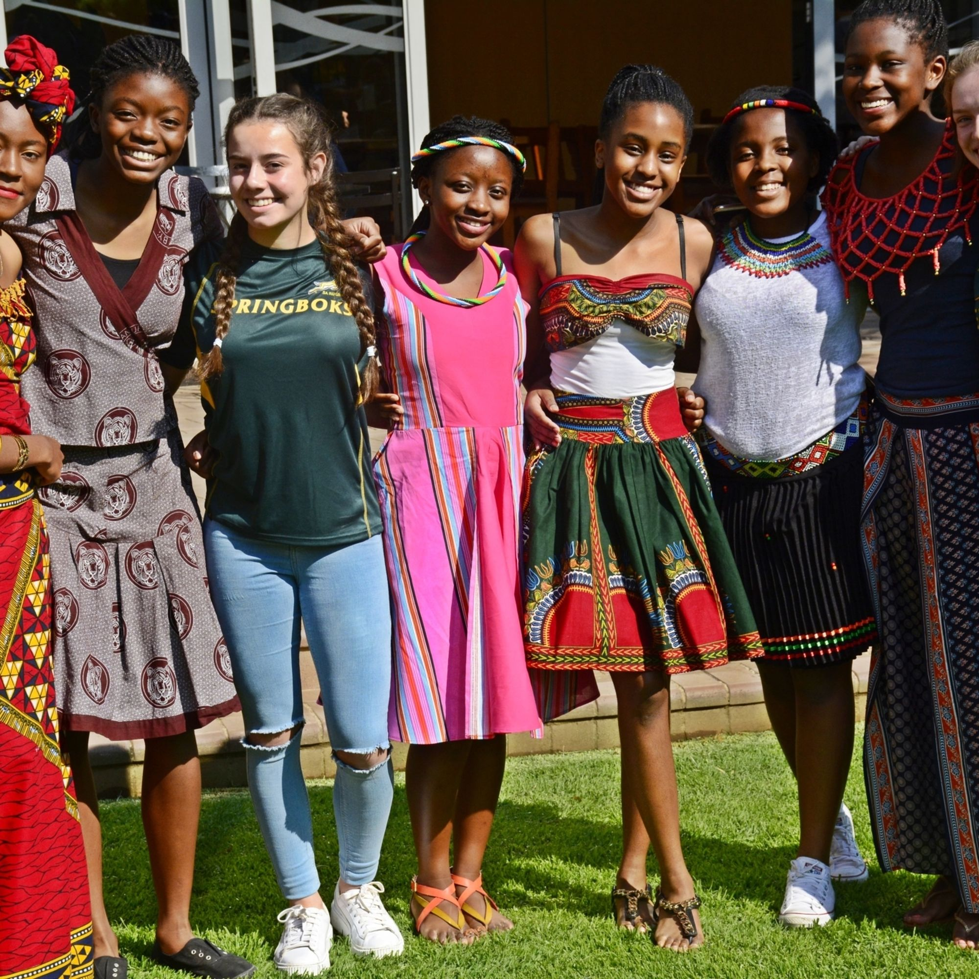 Senior school girls celebrating our diverse community