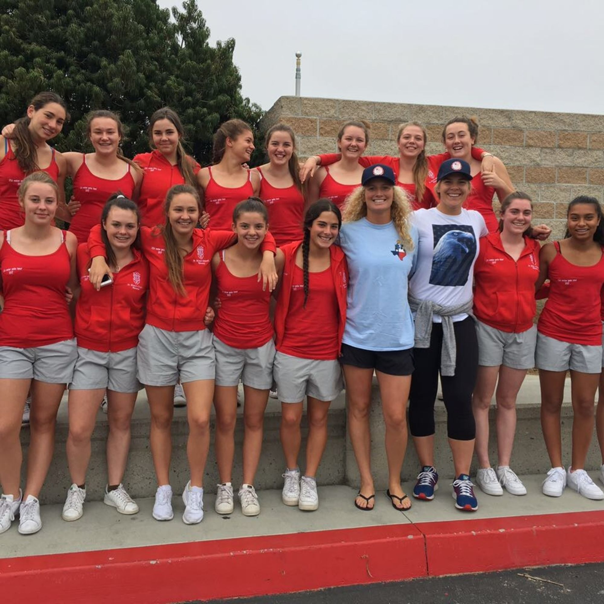 Usa water polo tour the st marys girls with the american olympians