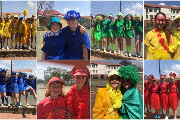 Tennis inter house collage