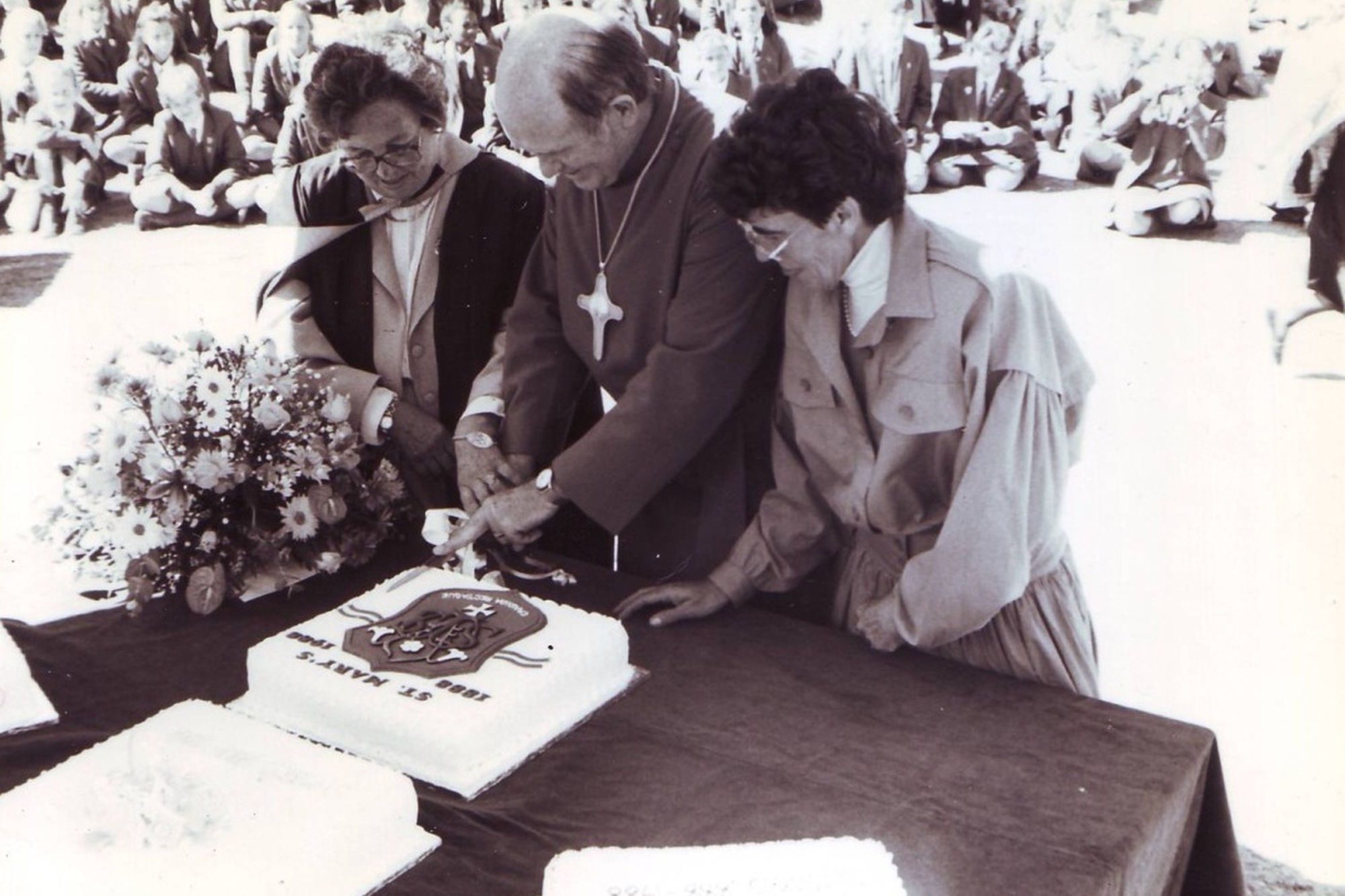 Black and white cutting cake 1988 copy